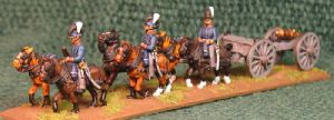 15mm, Napoleonic British Royal Artillery Limber + Gun